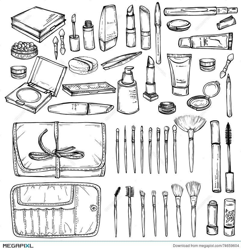 Makeup Products Drawing At