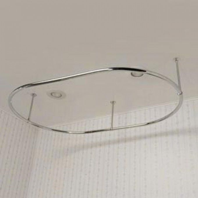 Oval Shower Curtain Rod | Shower curtain rods, Shower curtain ring ...