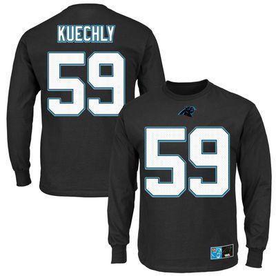 Men s Carolina Panthers Majestic Luke Kuechly Black Eligible Receiver II  Name   Number Long Sleeve T-Shirt f27d402c3