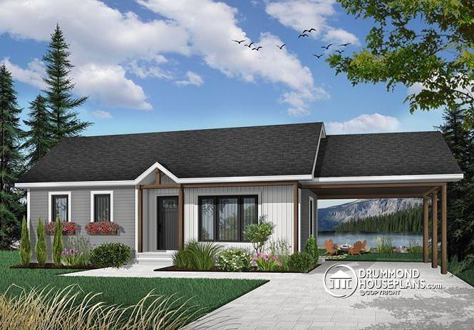 front BASE MODEL Traditional bungalow, affordable