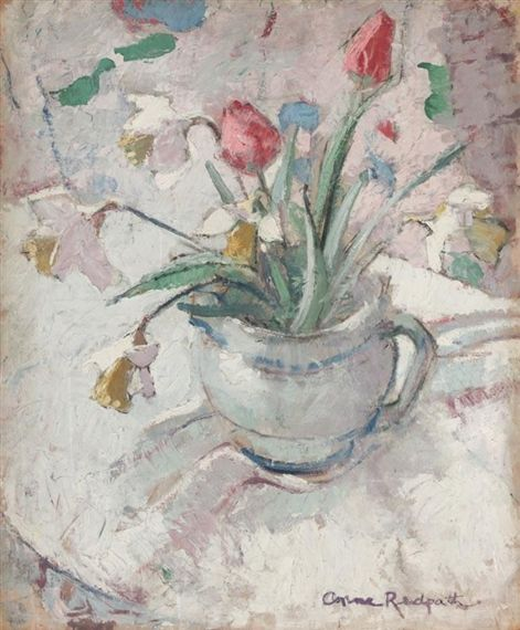 Anne Redpath, STILL LIFE WITH TULIPS AND DAFFODILS