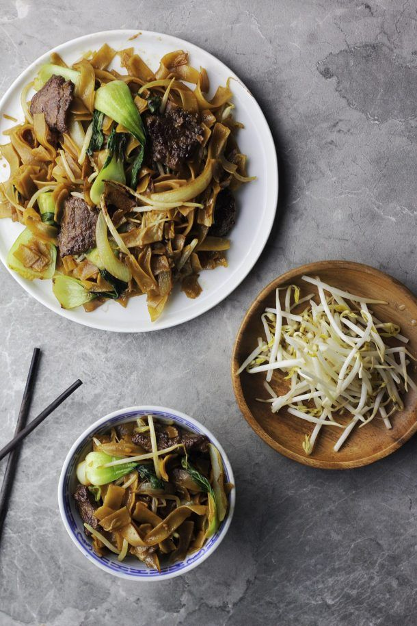 beef chow fun stirfried wide rice noodles  recipe