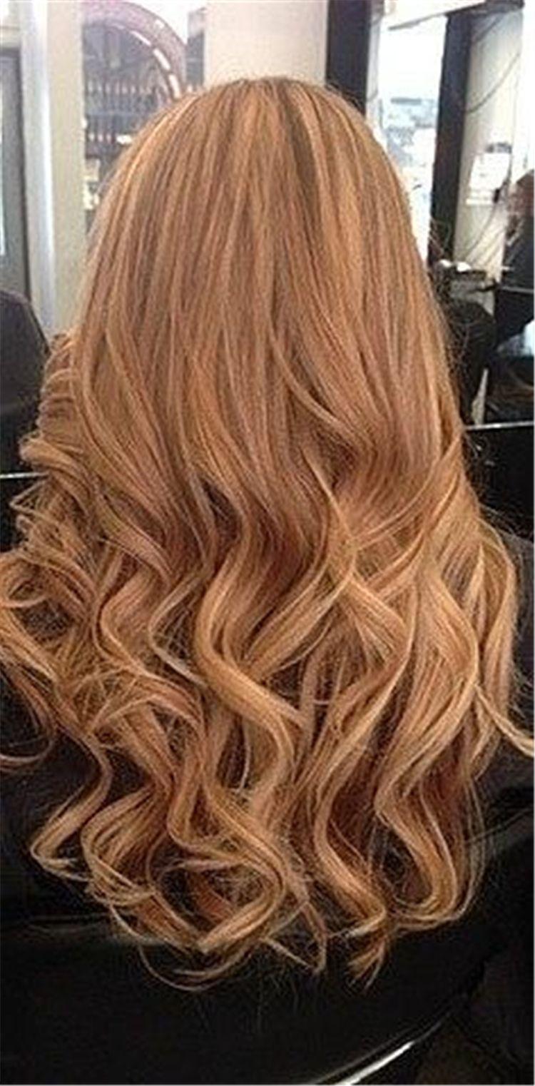 2019 Trendy Wild Fashion Hair Color Strawberry Blonde Light Hair
