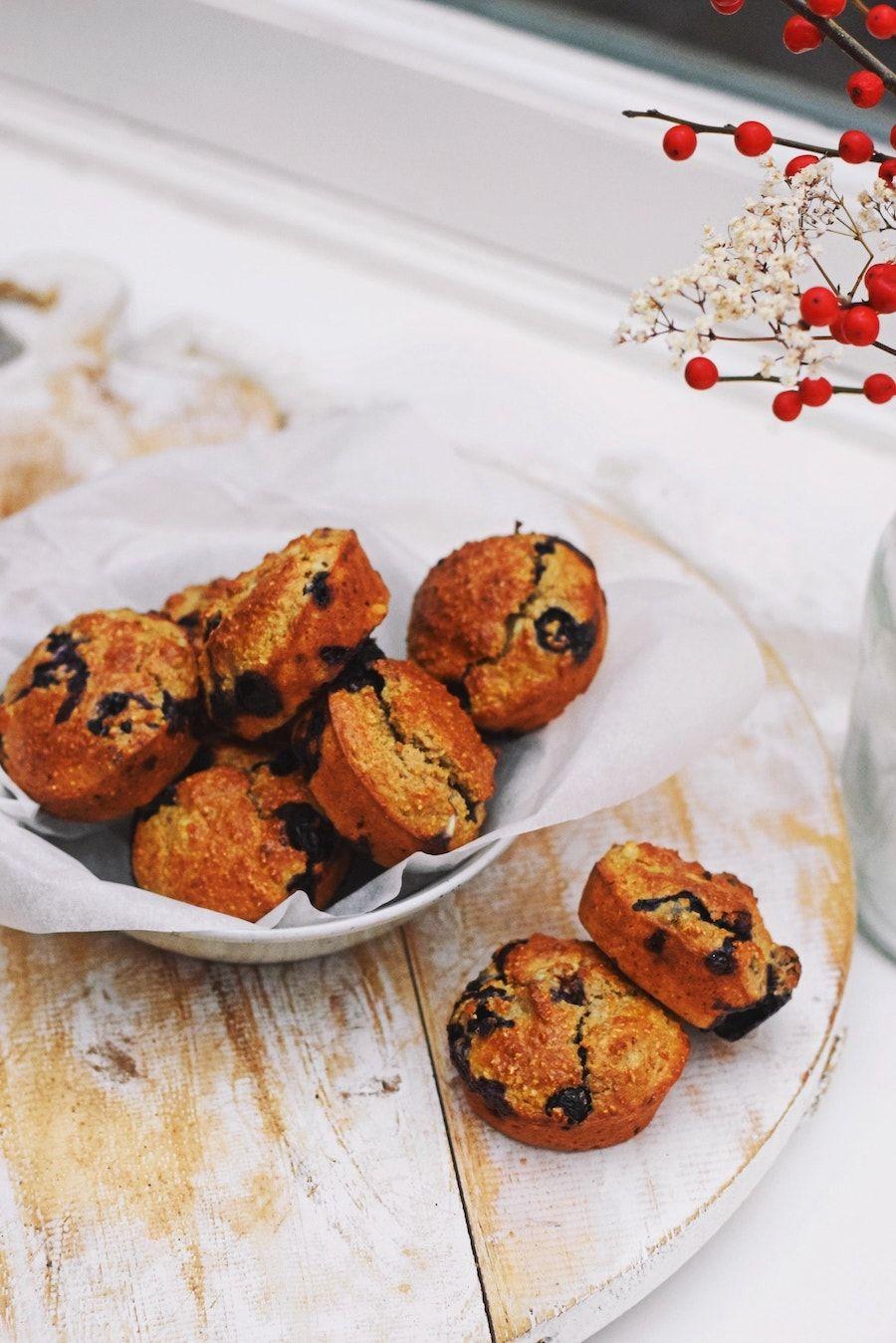 bosbessen muffins recept