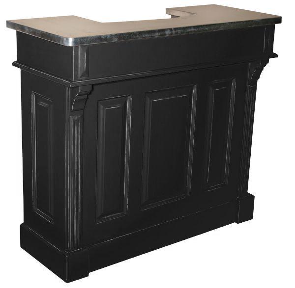 comptoir de bar 140cm plateau zinc ou pin massif. Black Bedroom Furniture Sets. Home Design Ideas