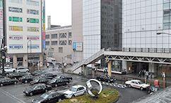立川駅のきれいな街並み