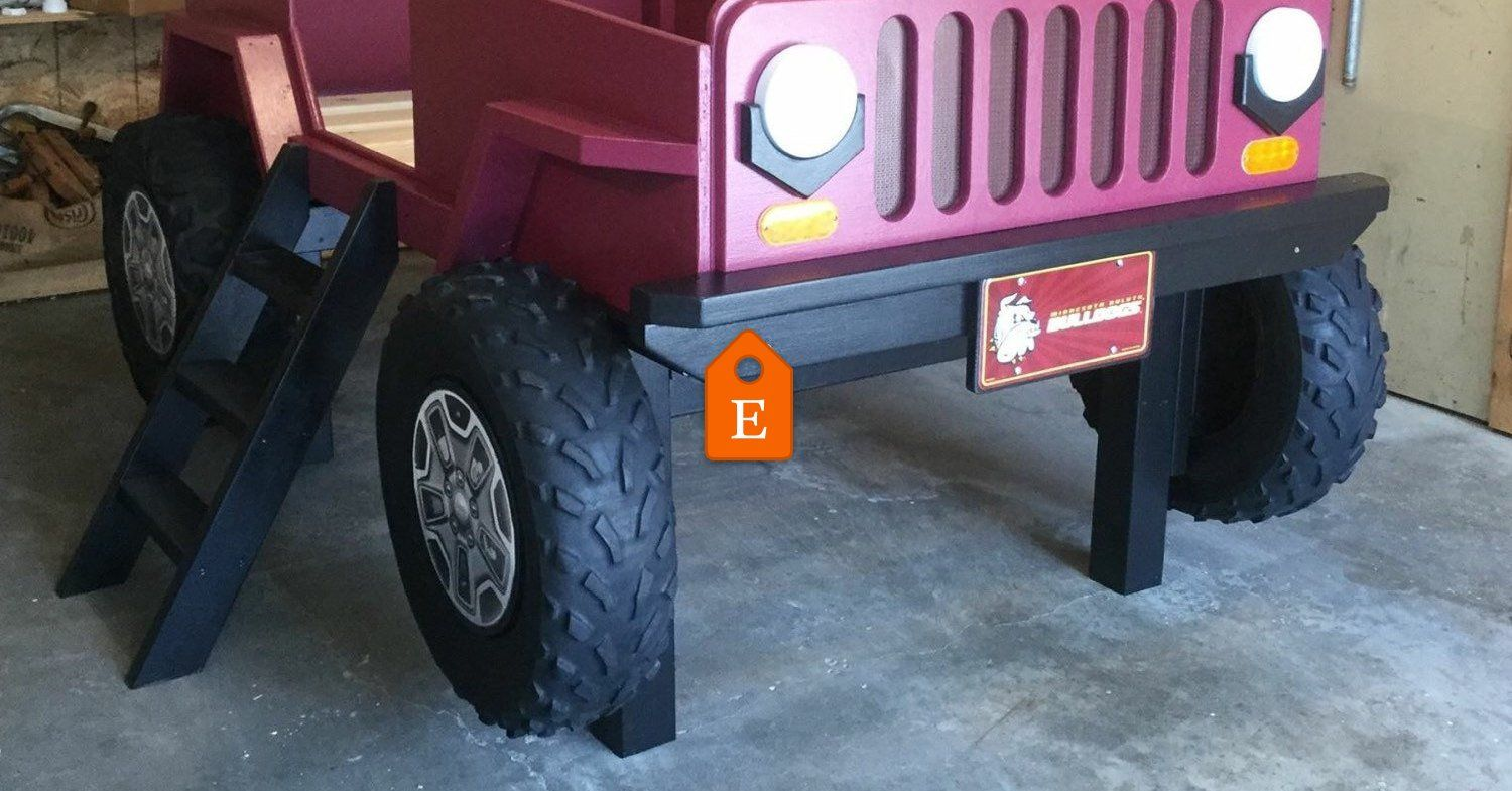 Jeep Bed Plans Twin Size Car Bed Bed plans, Jeep bed