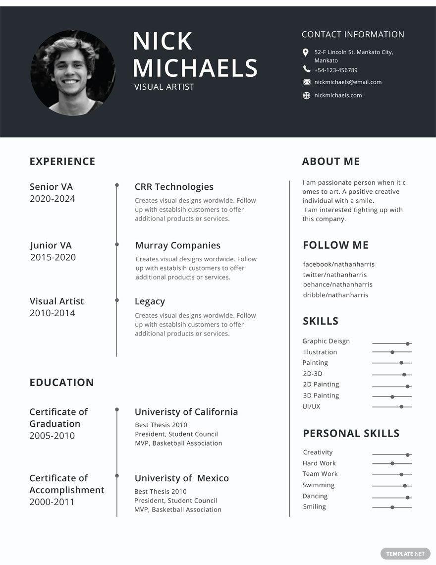 Free Resume Format in 2020 Best cv template, Free resume