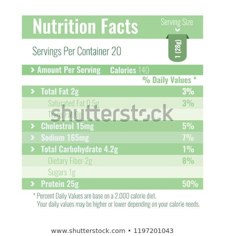 Nutrition Facts Label design template for food content. Per Vector illustration. #eggnutritionfacts