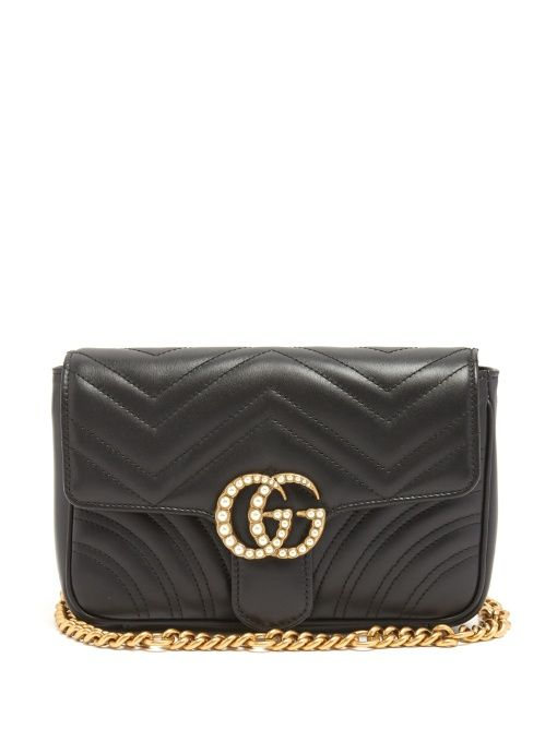 906b616a08436d GUCCI Gg Marmont Quilted-Leather Belt Bag. #gucci #bags #belt bags #suede  #lining #