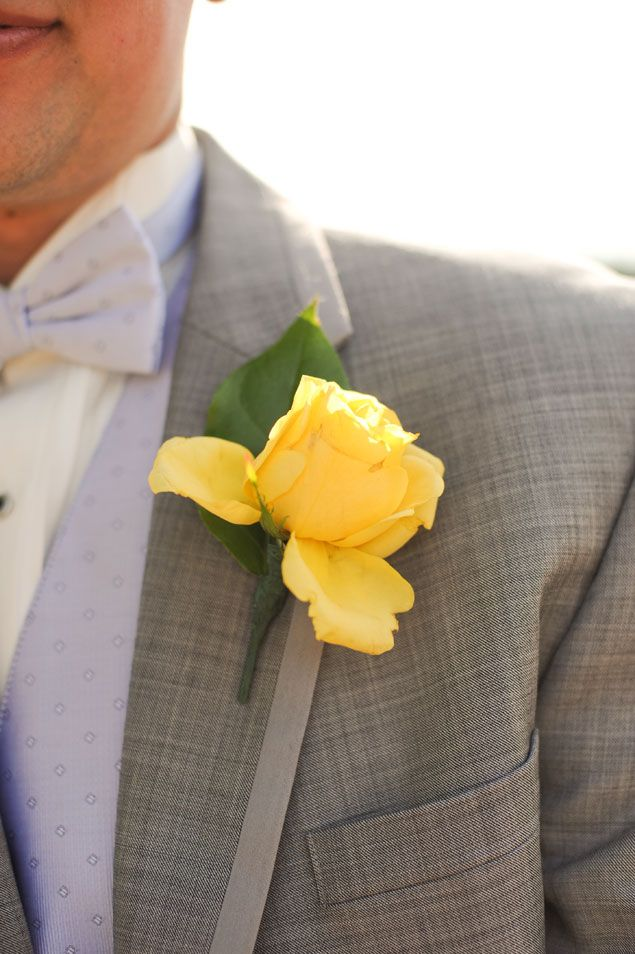Yellow Boutonniere - PHOTO SOURCE • SHELBY LEIGH PHOTOGRAPHY | Featured on WedLoft