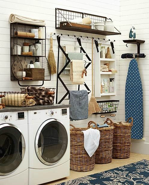 If Your House Were A Pottery Barn House Laundry Room