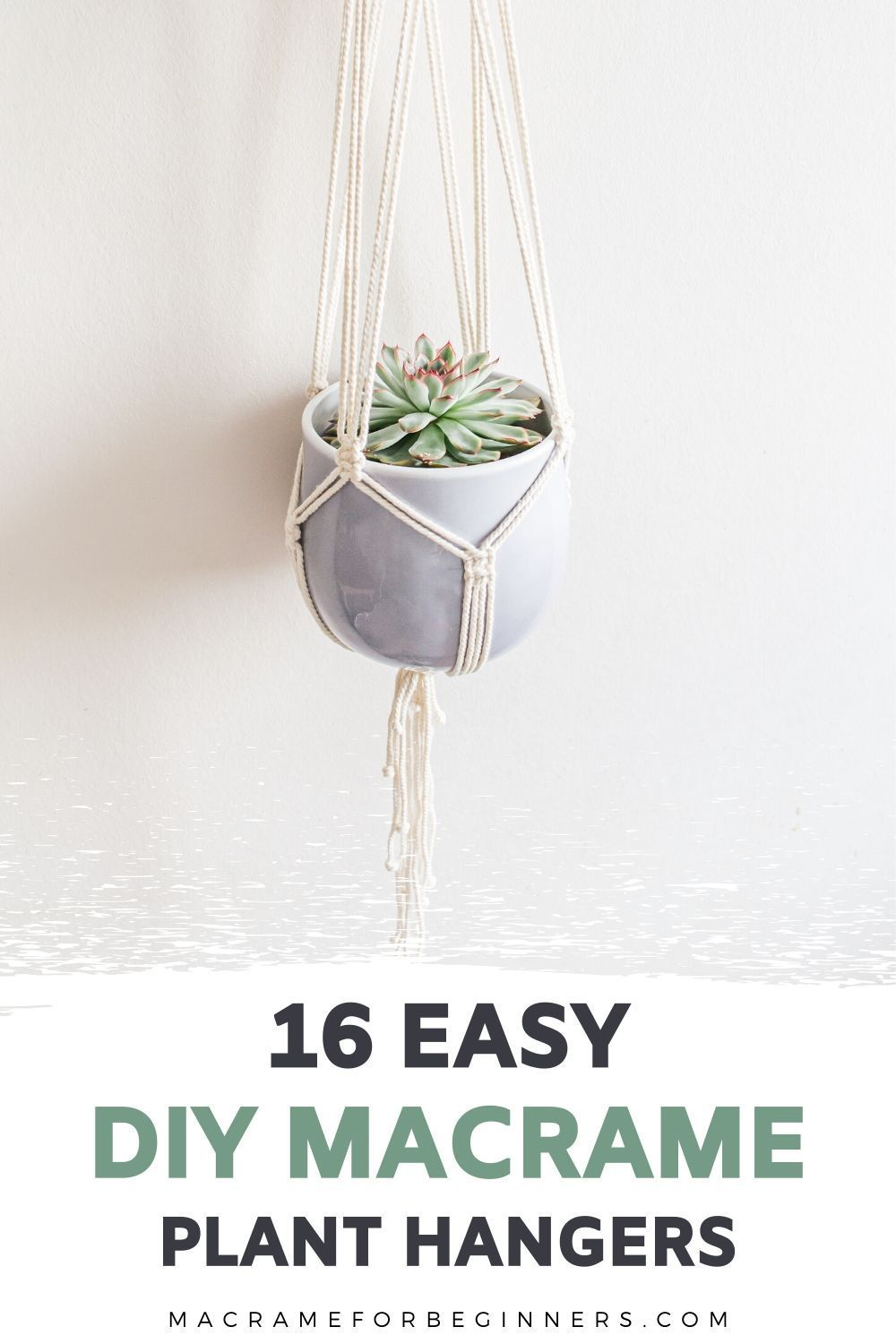 how to make a macrame plant hanger for beginners