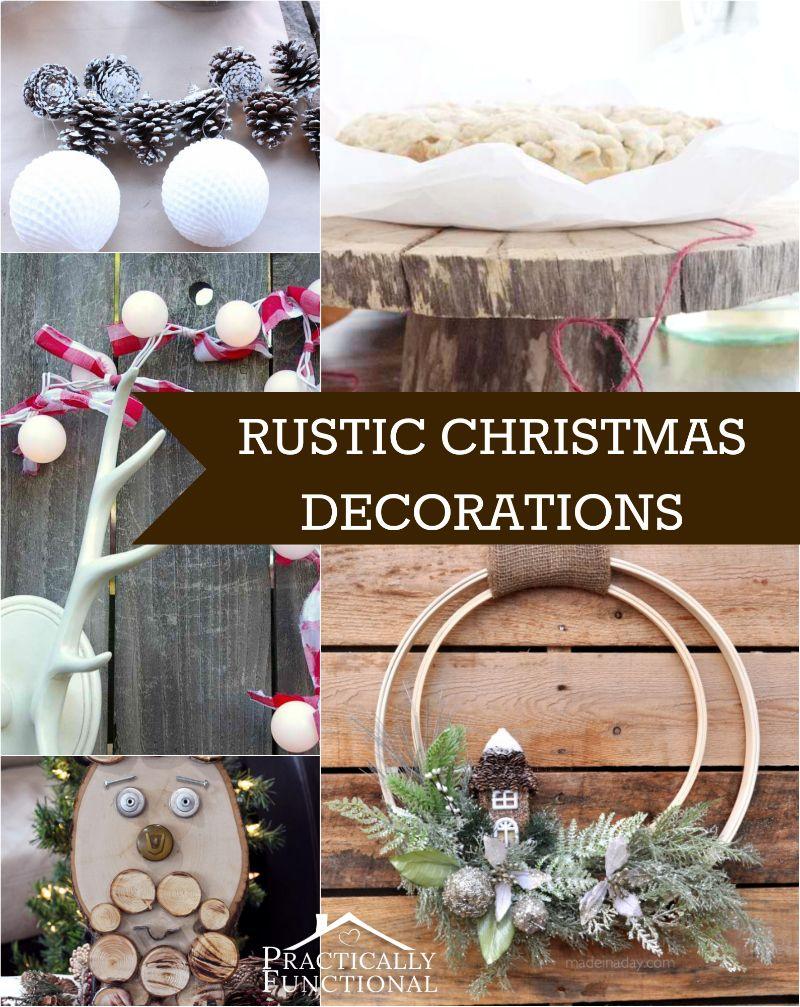 DIY Rustic Christmas Decorations CraftsChristmas Pinterest