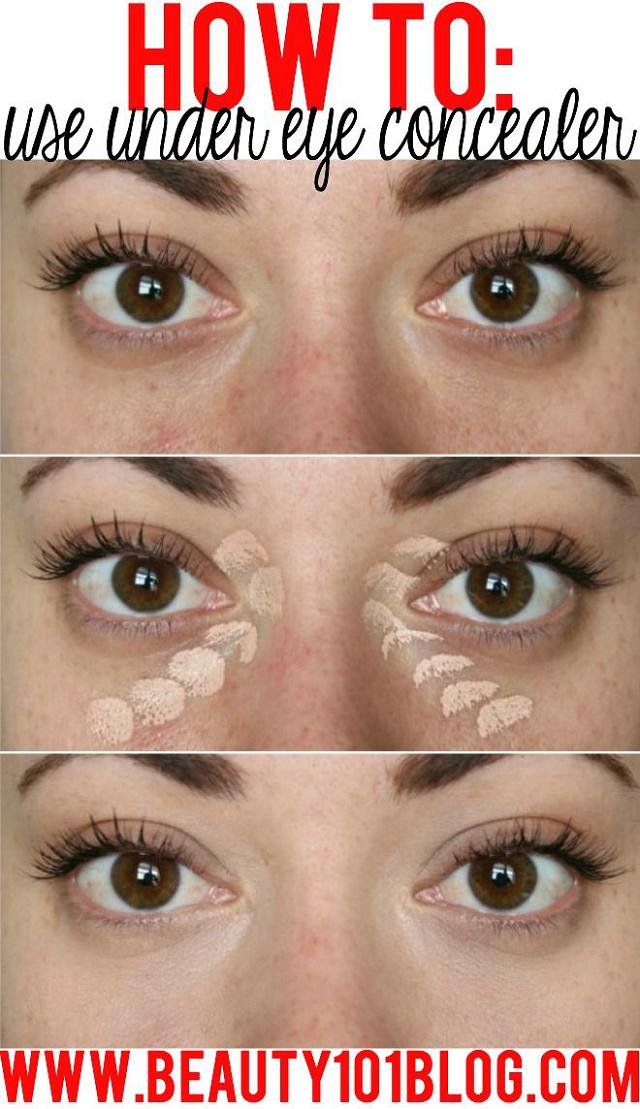 Quick Tip to Hide Under Eye Shadows Under eye makeup