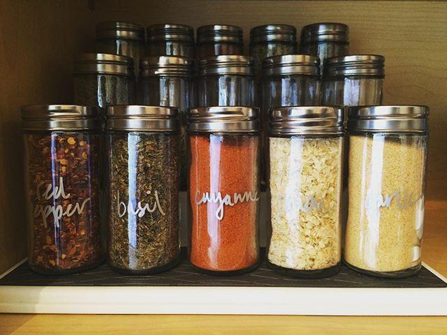 Spices never looked so good. #home #kitchen #shelfie #organization #atlanta