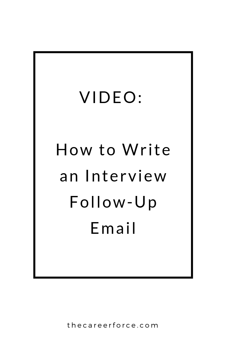 how to write an interview follow up email or thank you email