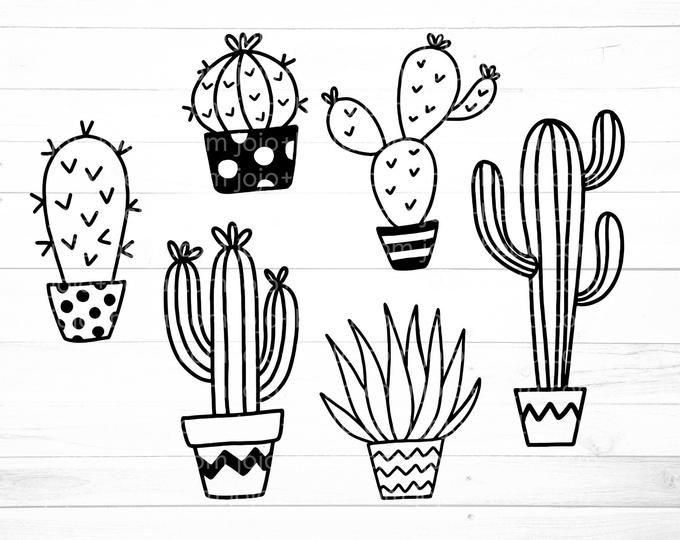 Download Cactussvg #cactusprintable #succulantsvg #cactisvg | Hand ...