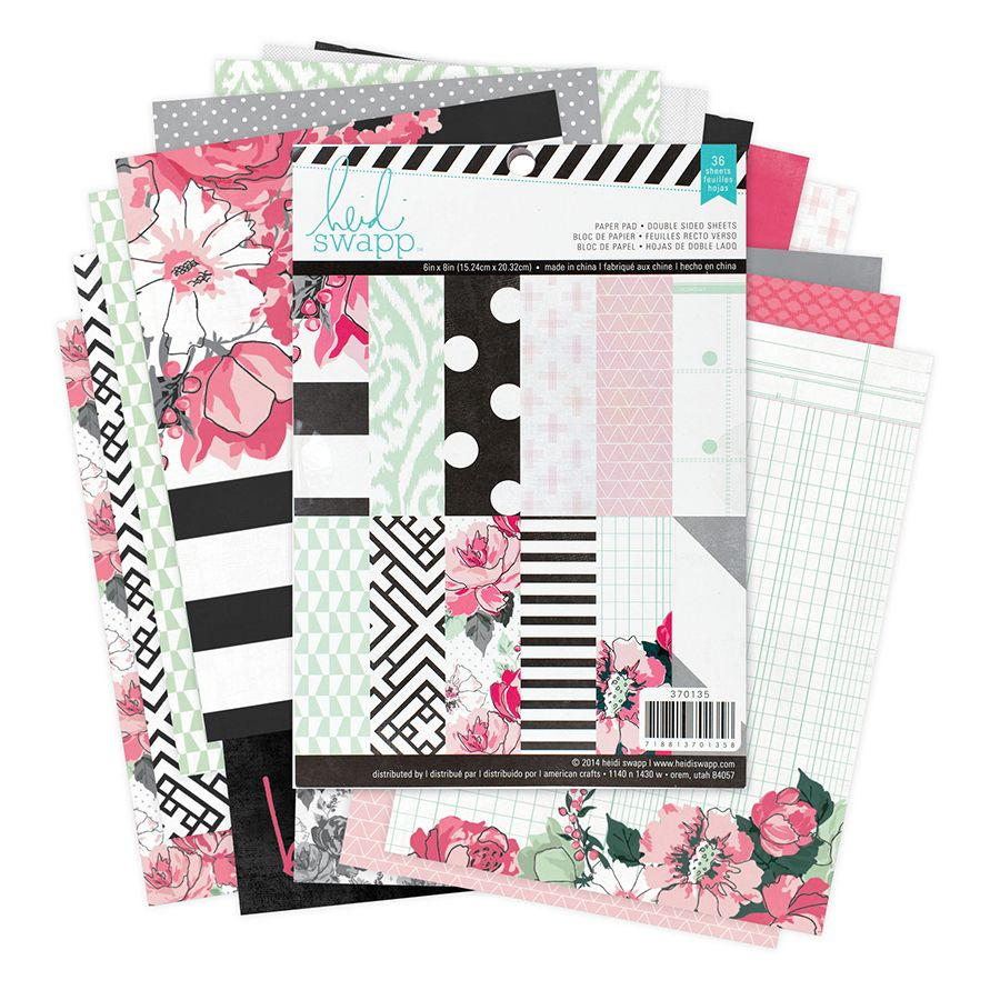 Scrapbook ideas china - Heidi Swapp Hello Beautiful Collection Memory Planner 6 X 8 Paper Pad One