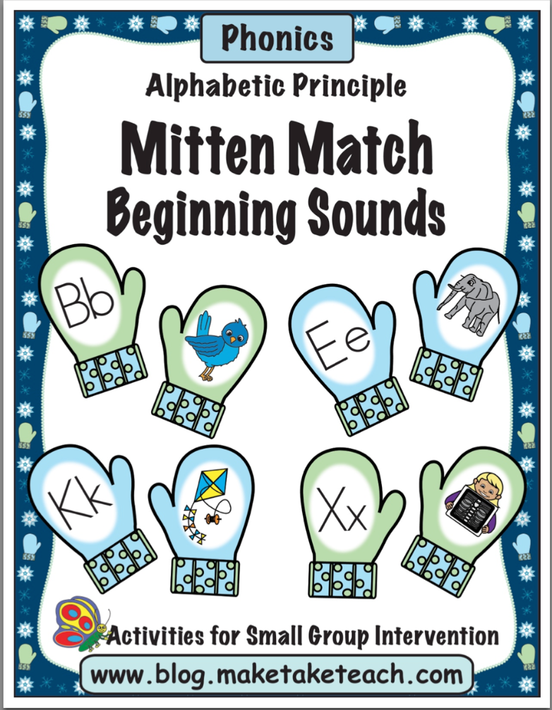mitten match activities for rhyme beginning sounds and vocabulary winter fun pinterest. Black Bedroom Furniture Sets. Home Design Ideas