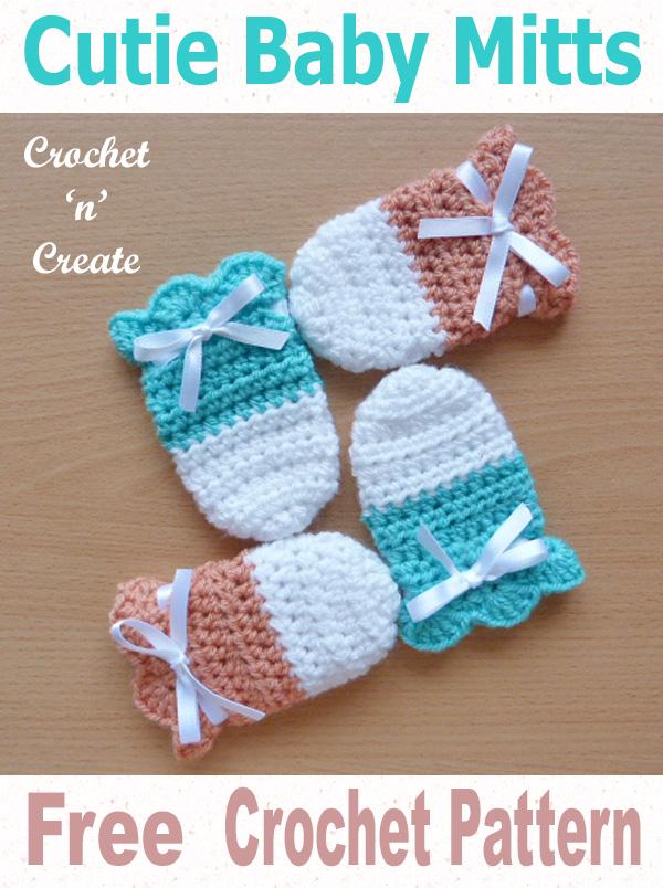 Cutie Baby Mitts Free Crochet Pattern UK | Crochet baby ...