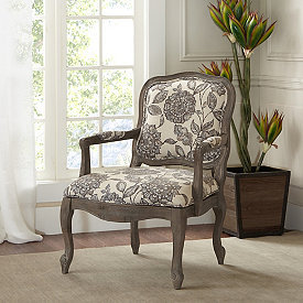 Best Floral Margaret Carved Accent Chair In 2020 Wood Chair 400 x 300