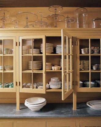 Store glasses upright Organizing Pinterest - einbauküchen für kleine küchen