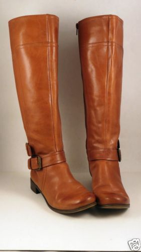 cb33d1df90ad NINE-WEST-Brown-Leather-Tall-Womens-Boots-Sz-5-5-Zip-Vintage-America-Vashiza