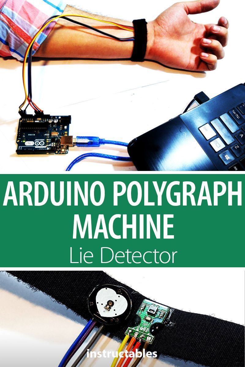 Set up your own polygraph machine (lie detector) using simple sensors and Arduino. #electronics…