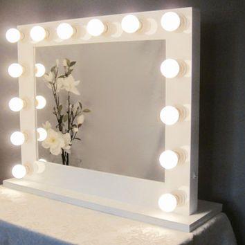 Hollywood lights mirror vanity easy craft ideas grand hollywood lighted vanity mirror w outlet house ideas aloadofball Choice Image