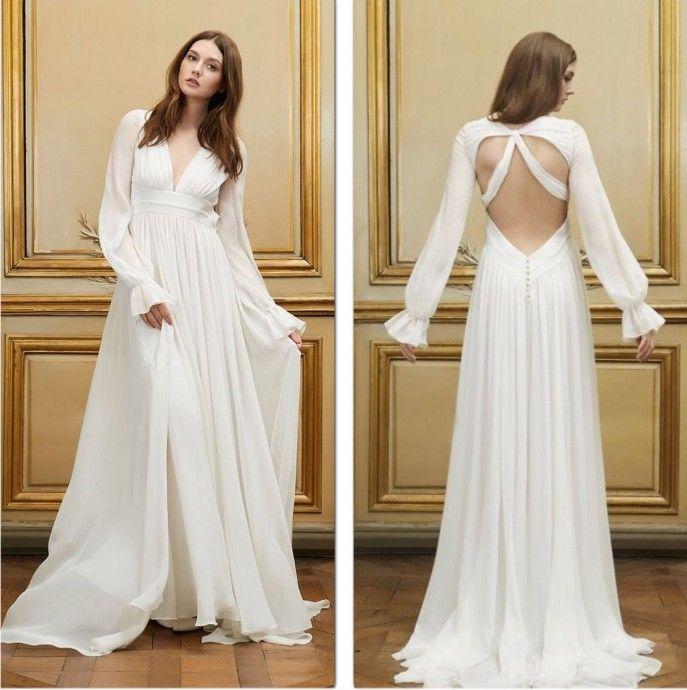 10 robes sexy qui ont l 39 art de d voiler le dos de la mari e avec style robes de mariees 2015. Black Bedroom Furniture Sets. Home Design Ideas