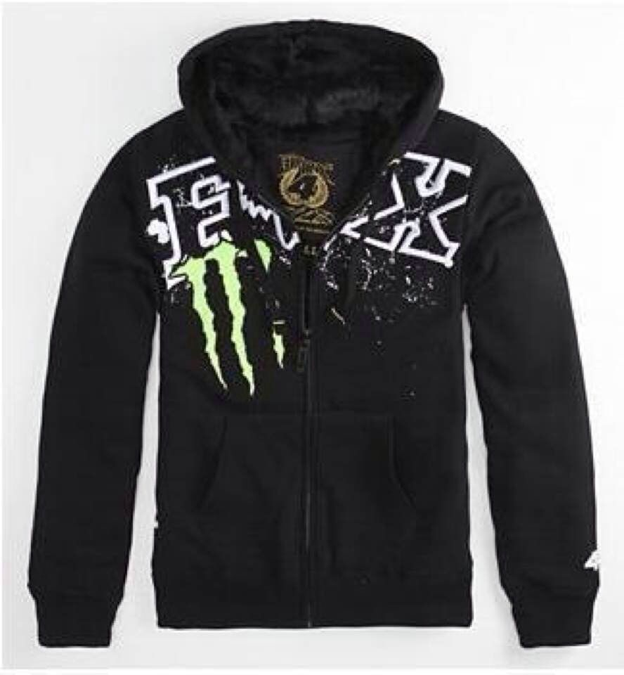 Monster Energy And Fox Racing Sweatshirt Fox Clothing Fox Hoodie Fox Racing