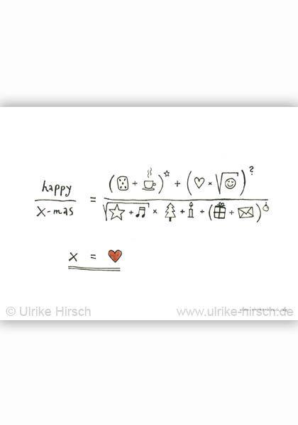 Postkarte Weihnachts-Gleichung ⋆ Ulrike Hirsch