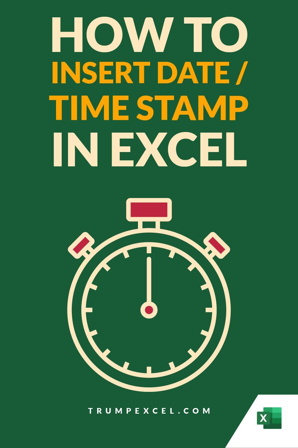 How To Quickly Insert Date And Timestamp In Excel Microsoft Excel Tutorial Excel Tutorials Excel