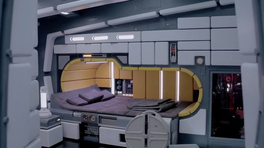 A Tour Inside The Millennium Falcon Reveals Horrible Interior Design Core77 Spaceship Interior Futuristic Home Interior
