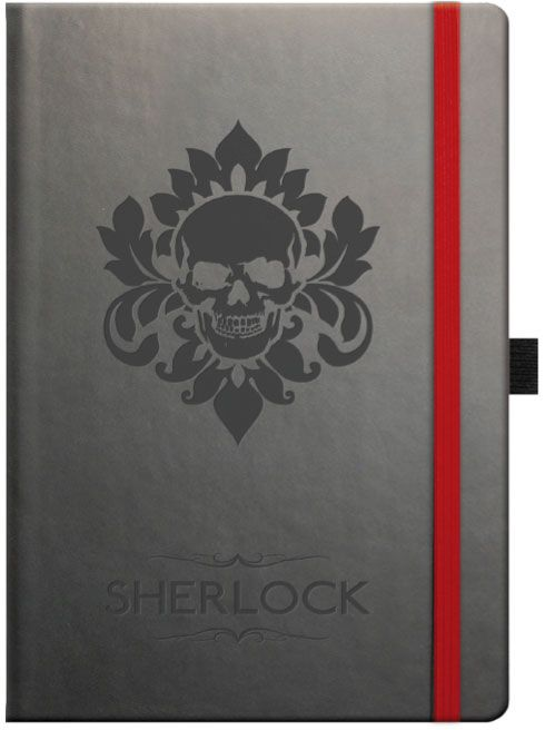 New and exclusive to BBC Shop,  Sherlock A5 Soft Touch Notebook.