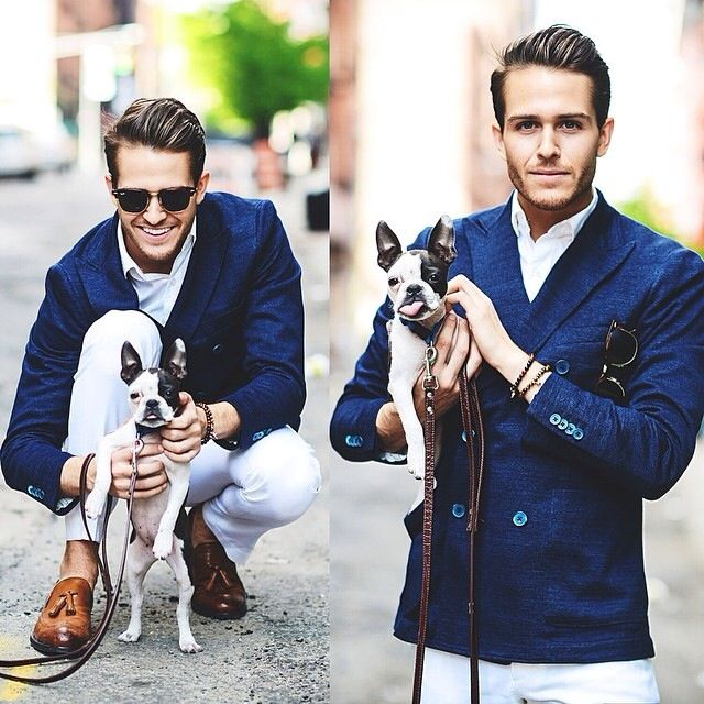 I should probably start a board: men with adorable puppies. Lol