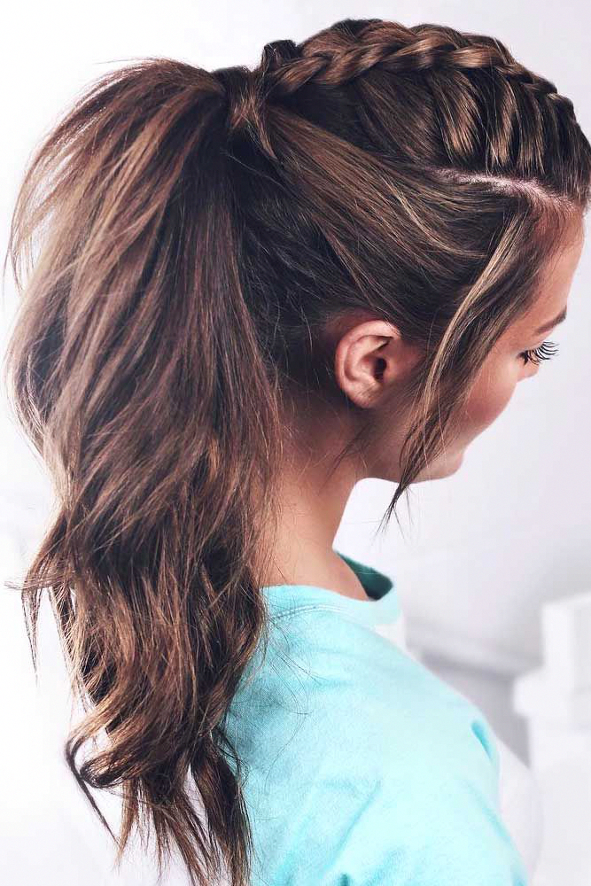 It Is High Time To Think About Prom Hairstyles As The Big Dance Will Soon Be Upon Us Whether You Medium Length Hair Styles Medium Hair Styles Dance Hairstyles