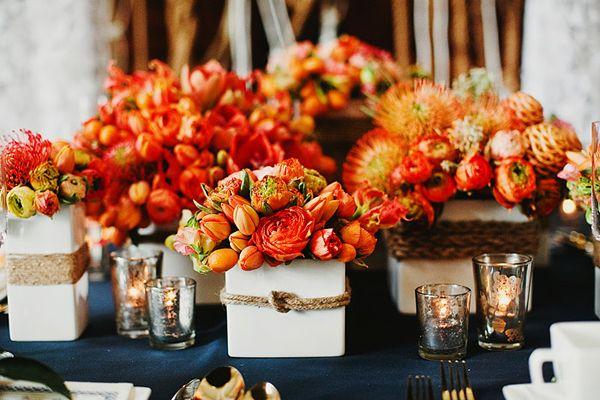 herbstdeko orange (3)  Hochzeitstafel  Pinterest