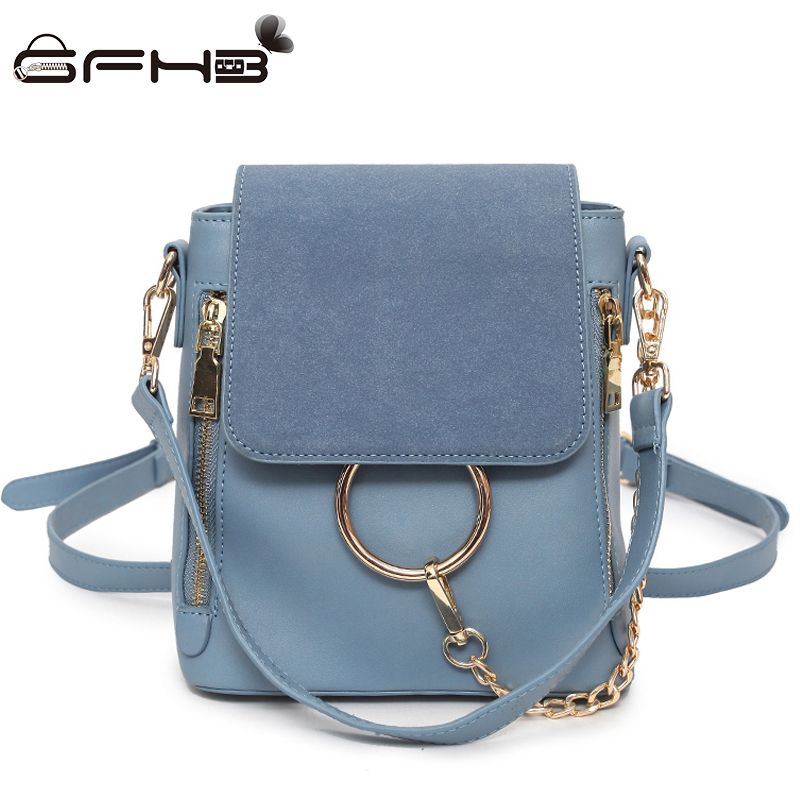e4696e687c Women Backpack Frosted Faye Backpacks For Teenage Girls Kanken 2017 Fashion  Style Leather Travel Mini Bags