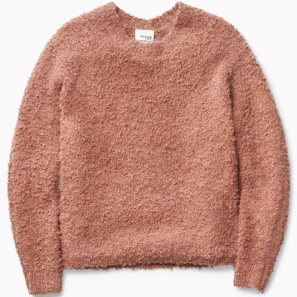 d1c4897c057 NEW ARITZIA WILFRED FREE Kroes Sweater Boucle Mohair Wool Fuzzy ...