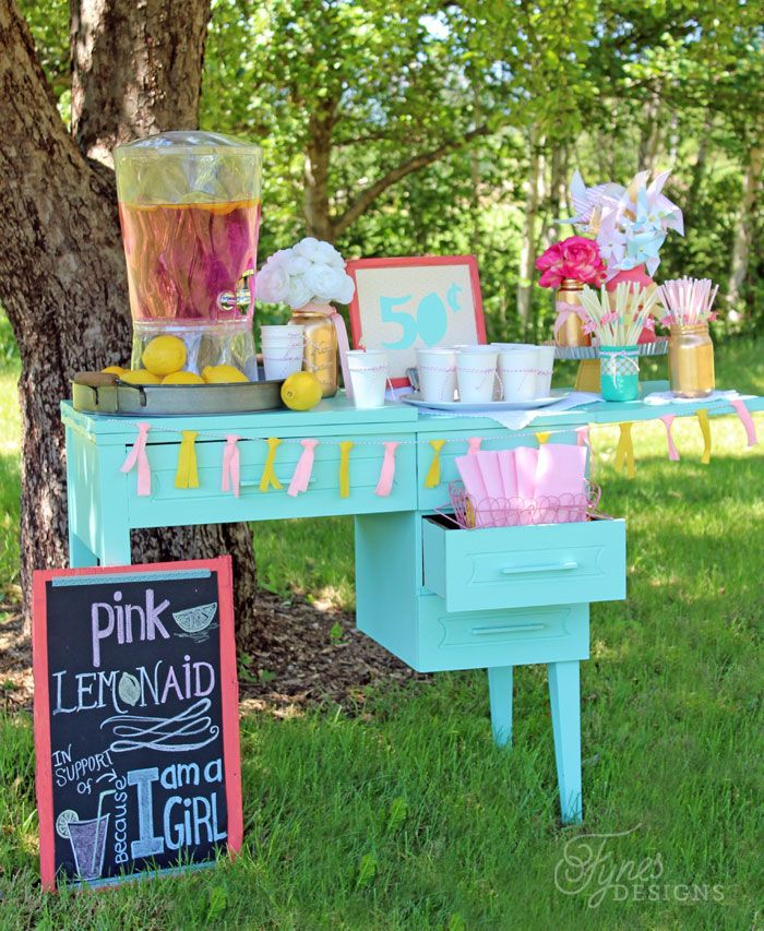 Lowcost Ideas for Making A Pink Lemonade Stand Pink