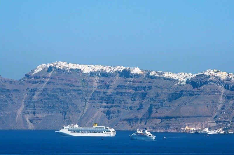 stunning perspective Santorini