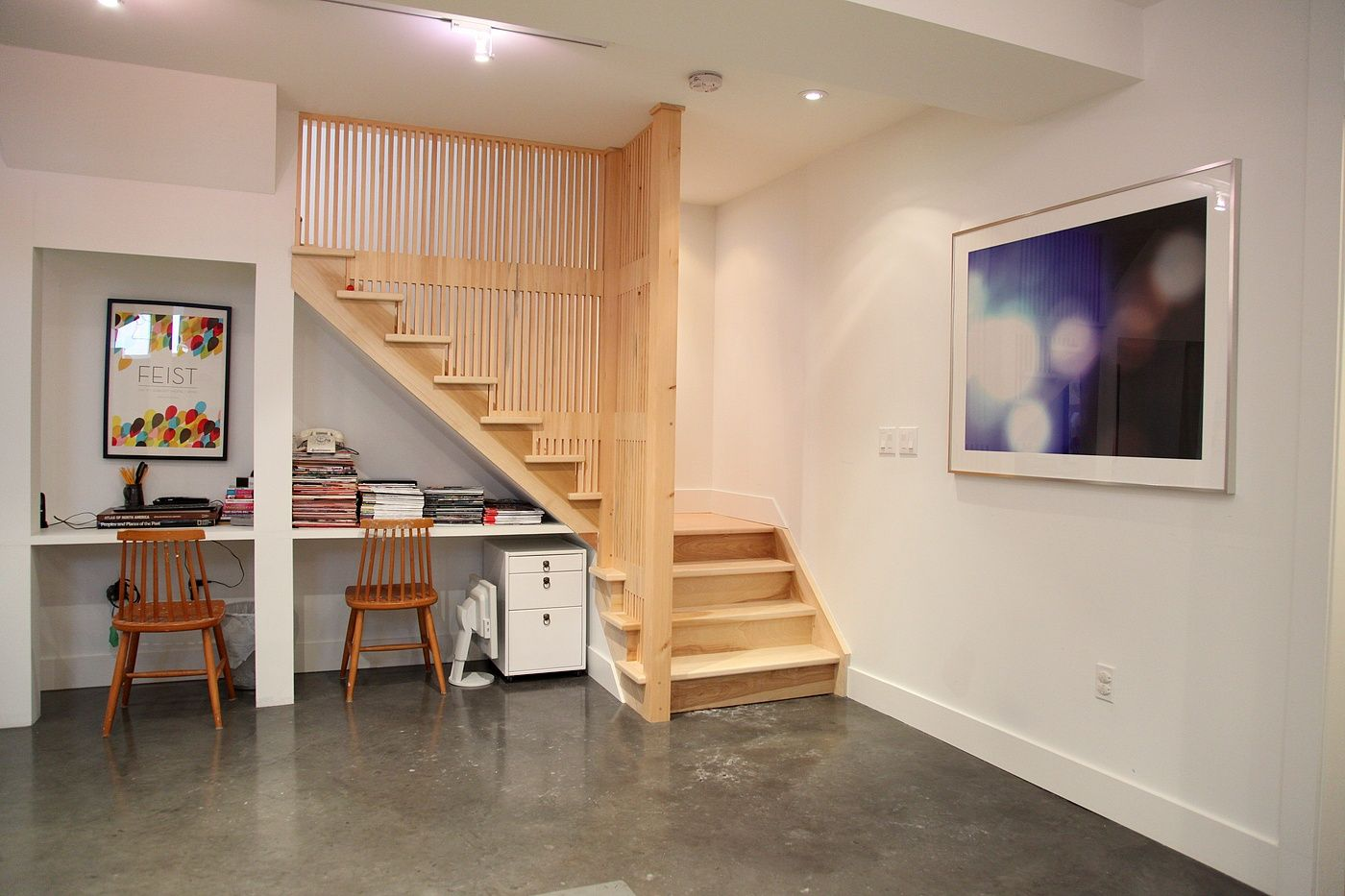 Basement Stair Ceiling Lighting: Track Lighting For The Basement. It Appears The Light Is