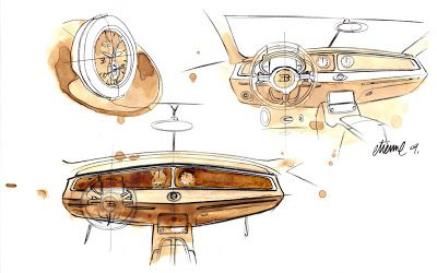 Bugatti Galibier Interior Sketch