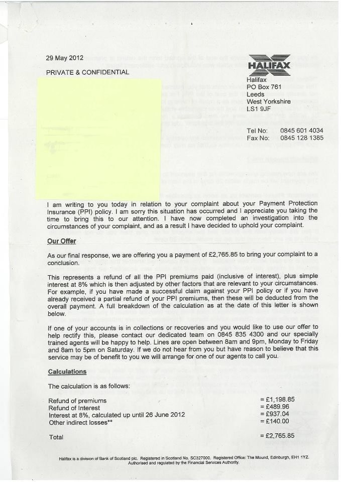 ppi reclaim letter from bank click view full sized image template - claims letter