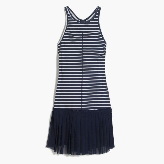 New Balance Reg For J Crew Tennis Dress In Stripe With Images Tennis Dress Fashion Women