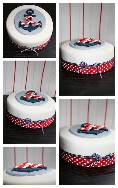 Anchor cake - i love the polka dots and stripes!                                                                                                                                                                                 Mehr