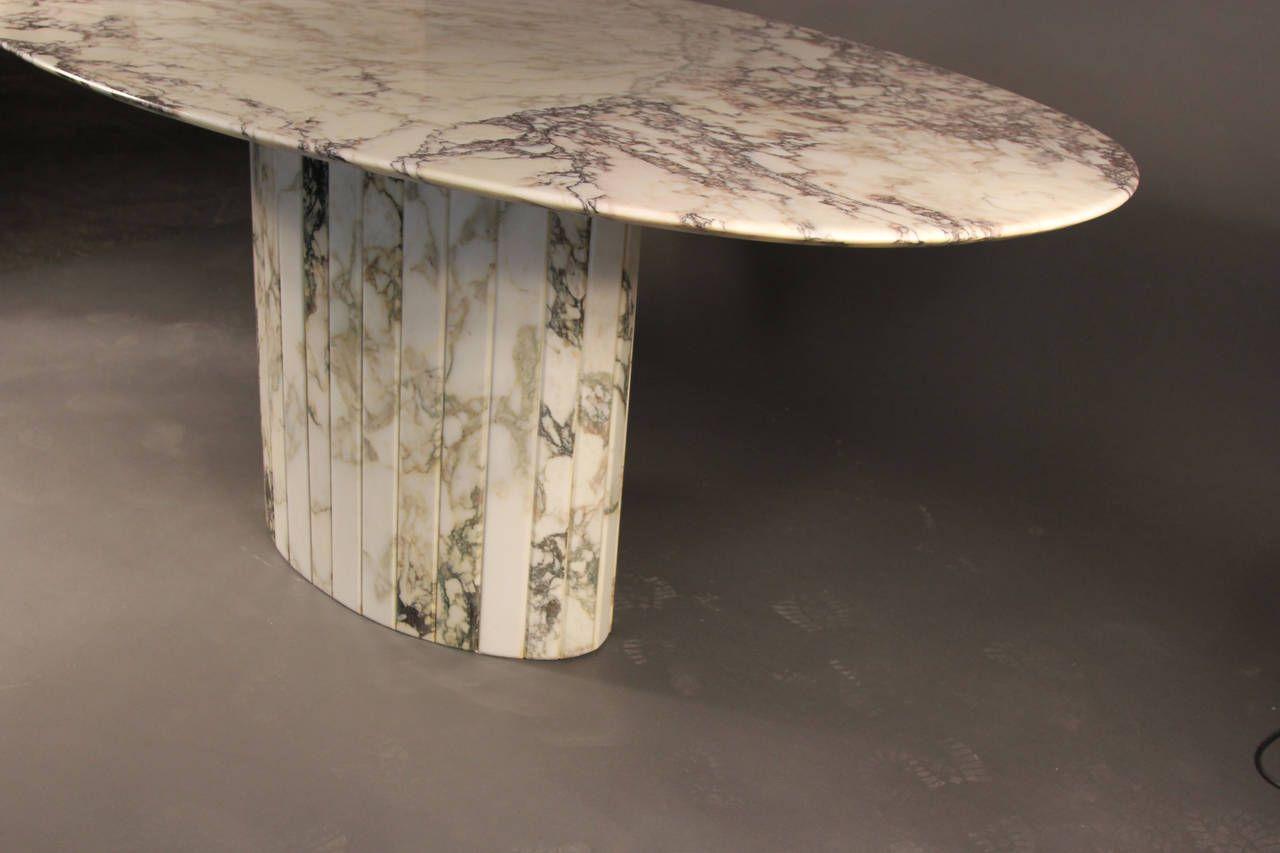 Gorgeous Carrara Marble Oval Dining Table Italian Oval Table