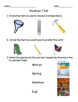 1st grade weather assessment classroom first grade weather 1st grade science 2nd grade. Black Bedroom Furniture Sets. Home Design Ideas